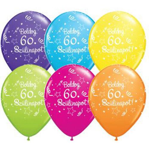 Boldog 60. szülinapot lufi 5 db