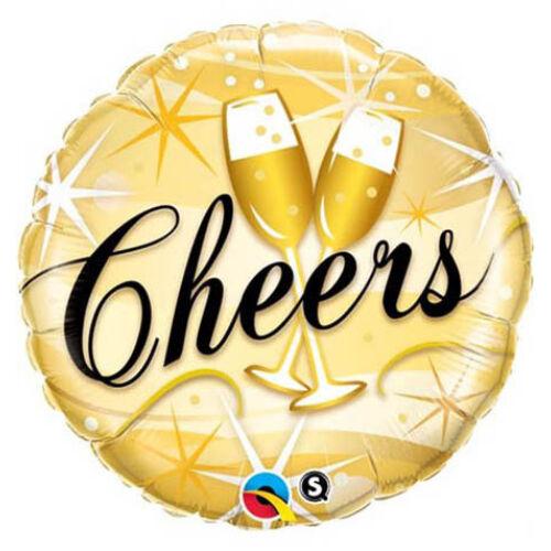 Cheers pezsgős poharas héliumos lufi