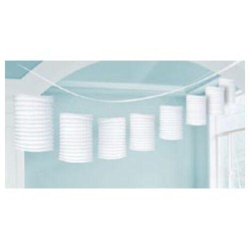 Fehér lampion füzér