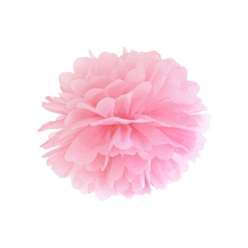 Rózsaszín selyempapír pompom 35 cm