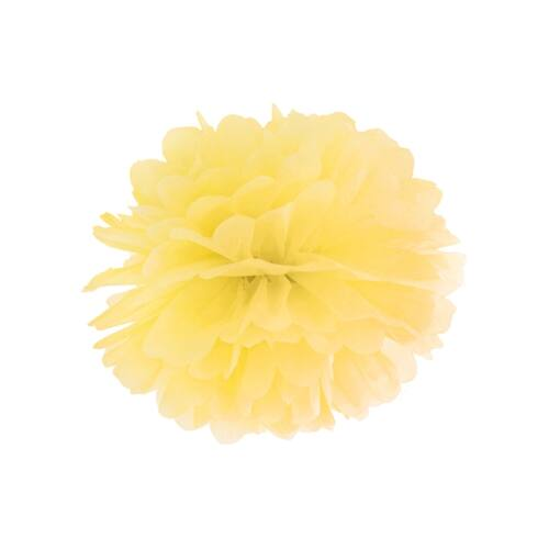 Sárga selyempapír pompom 35 cm