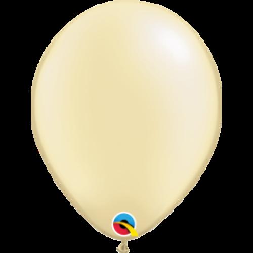 Ekrü gyöngyházas lufi qualatex 28 cm