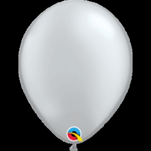 Ezüst gyöngyházas lufi qualatex 28 cm