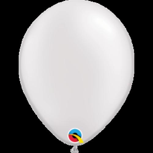 Fehér gyöngyházas lufi qualatex 28 cm