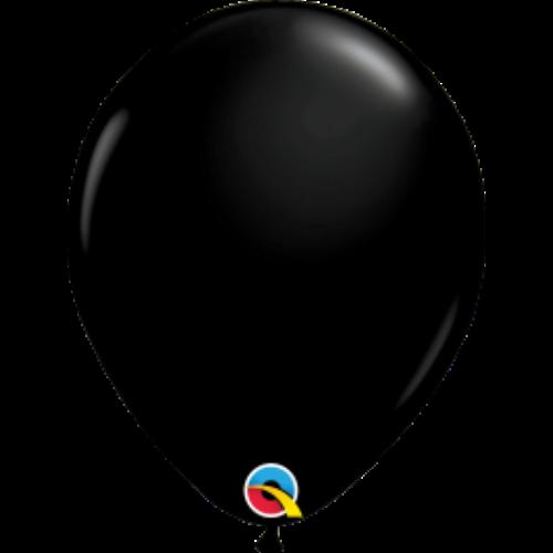 Fekete áttetsző lufi qualatex 28 cm
