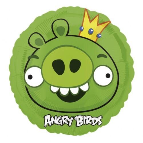 Angry birds héliumos lufi - Zöld malac 45 cm