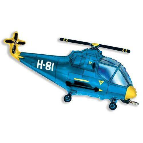 Kék helikopter héliumos lufi