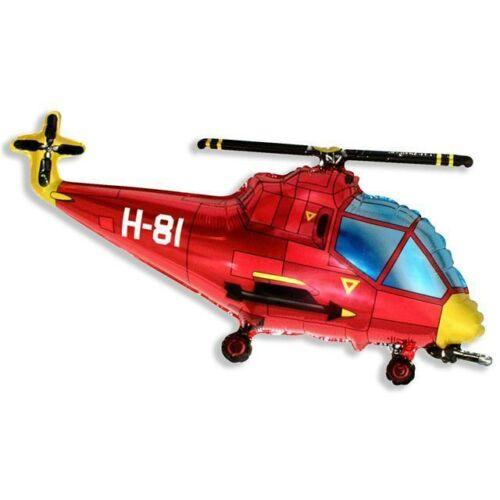 Piros helikopter héliumos lufi