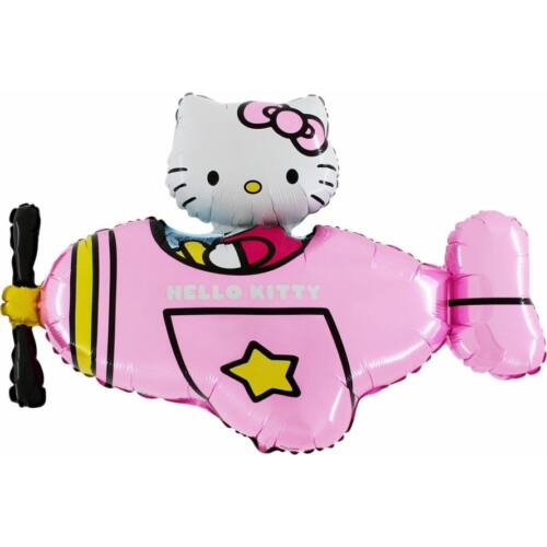 Repülős hello kitty héliumos lufi