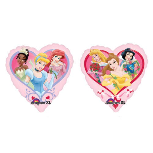 Szíves hercegnők héliumos lufi