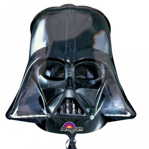 Dart Vader maszk héliumos lufi 50 cm