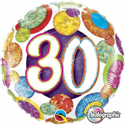 30 pöttyös prizmás héliumos lufi