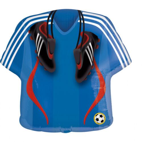 Kék focimez stoplis cipővel héliumos lufi