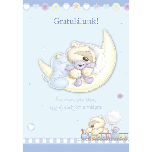 Kisfiú babaszületésre képeslap