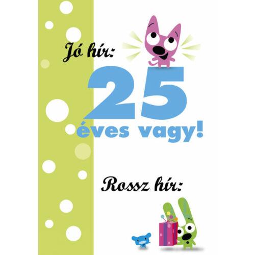 25. szülinapi vicces képeslap