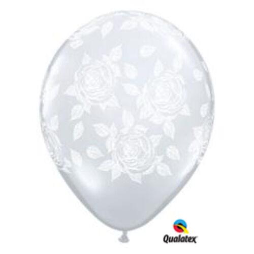 Átlátszó rózsás héliumos lufi