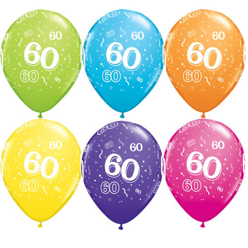 60. szülinapi héliumos lufi tropical