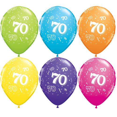 70. szülinapi héliumos lufi tropical
