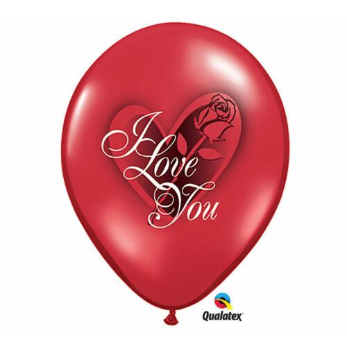 Rózsás I love you héliumos lufi