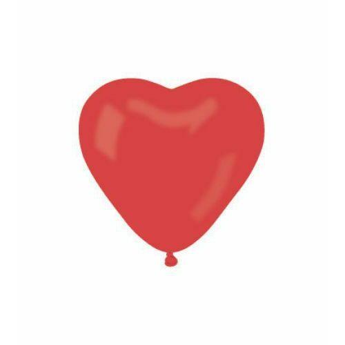 Héliumos piros szív lufi 25 cm