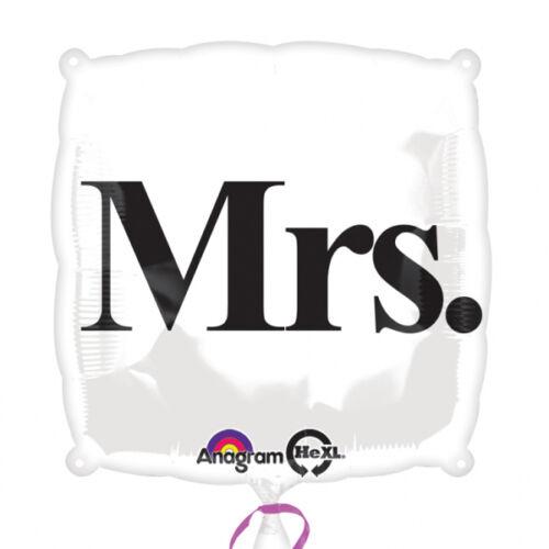 Mrs esküvői héliumos lufi