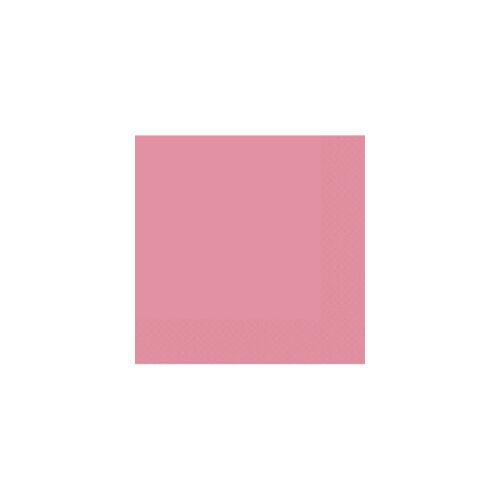 Rózsaszín szalvéta 33x33 cm 20 db