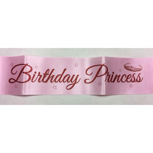 Koronás Birthday Princess szülinapi szalag