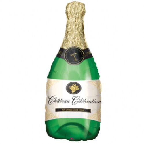 Szőlős pezsgősüveg héliumos lufi