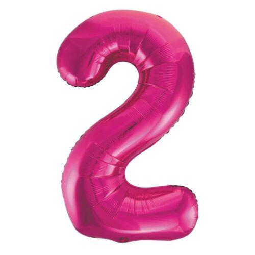 Pink 2 szám fólia héliumos lufi