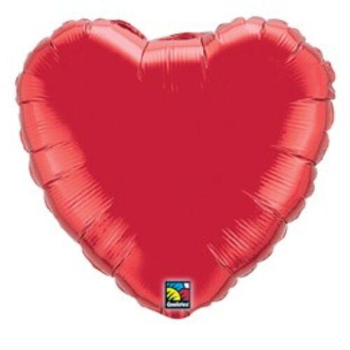 Piros szív fólia héliumos lufi