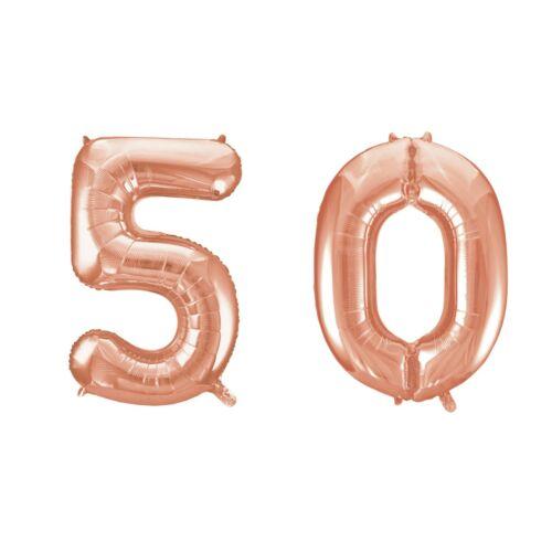 Rose gold 50 szám szülinapi héliumos lufi