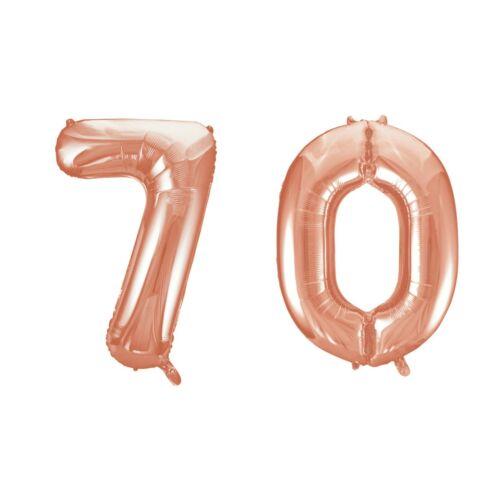 Rose gold 70 szám szülinapi héliumos lufi