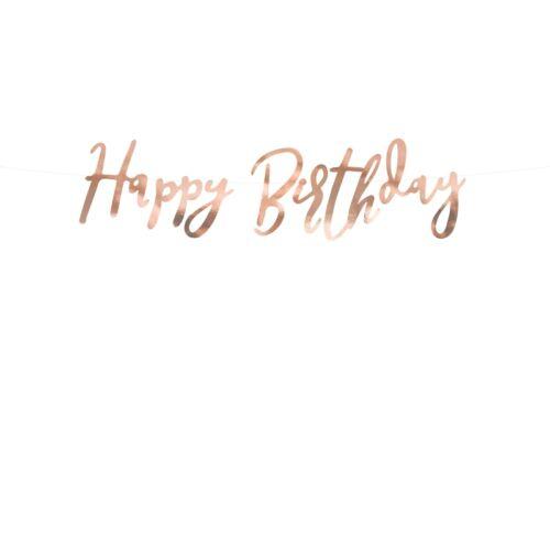 Rose gold happy birthday felirat