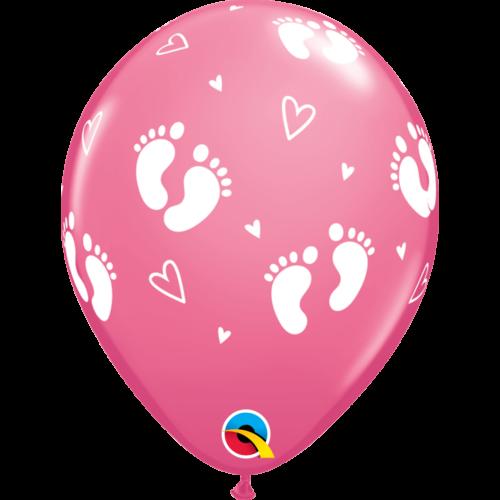Rózsaszín baba lábacskás lufi