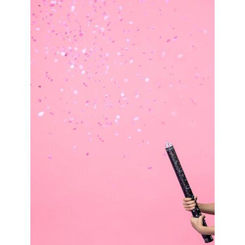 Rózsaszín konfetti ágyú