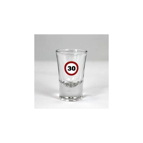 Sebességkorlátozó feles pohár 30 szülinapra