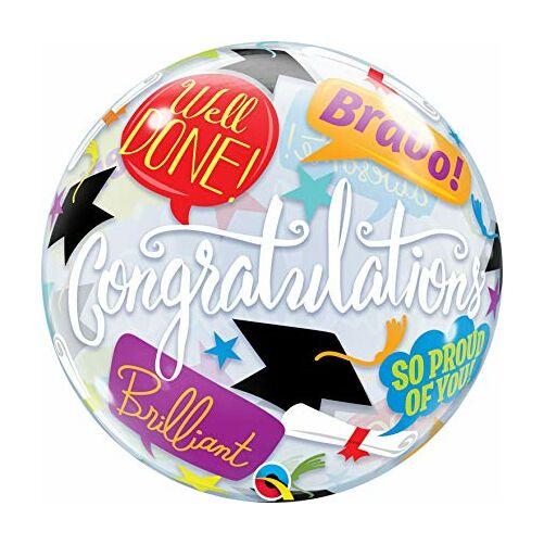 Színes ballagási gratulációs bubble héliumos lufi