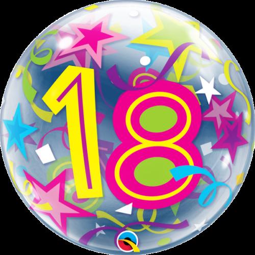 18 számos bubble héliumos lufi