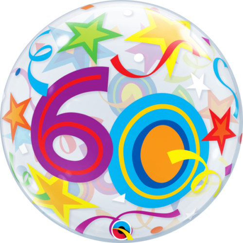 60 számos bubble héliumos lufi