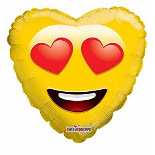Szivecske szemű szív smile héliumos lufi
