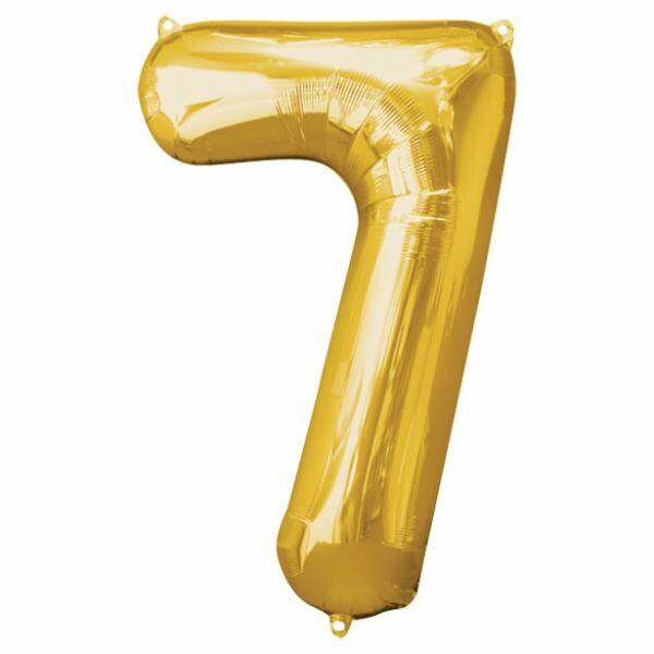 Arany 7 szám szülinapi héliumos lufi