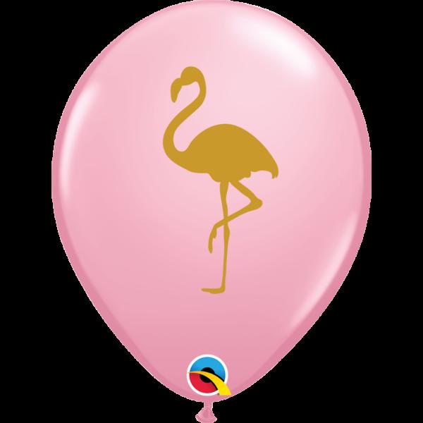 Arany flamingós pink lufi