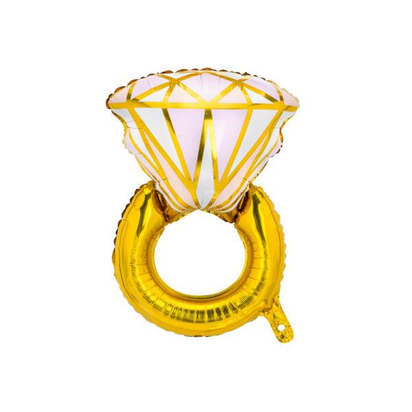 Arany gyűrűs héliumos lufi