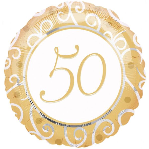 Arany indás 50 számos héliumos lufi
