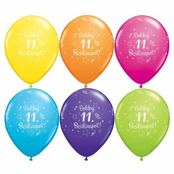 Boldog 11. szülinapot héliumos lufi