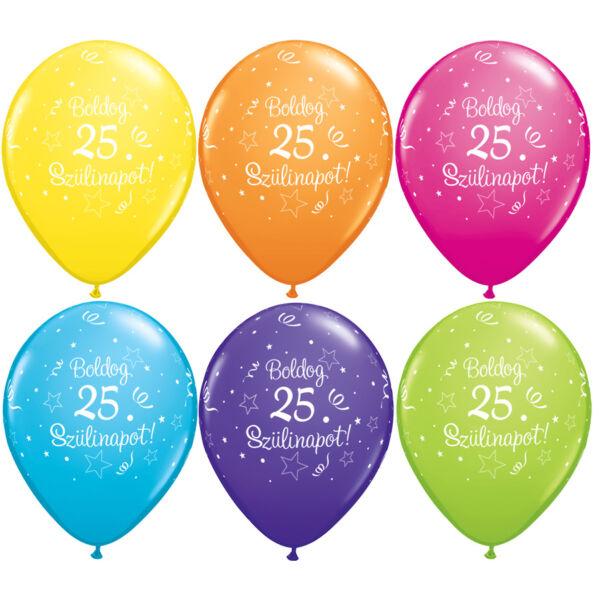 Boldog 25. szülinapot lufi 5 db