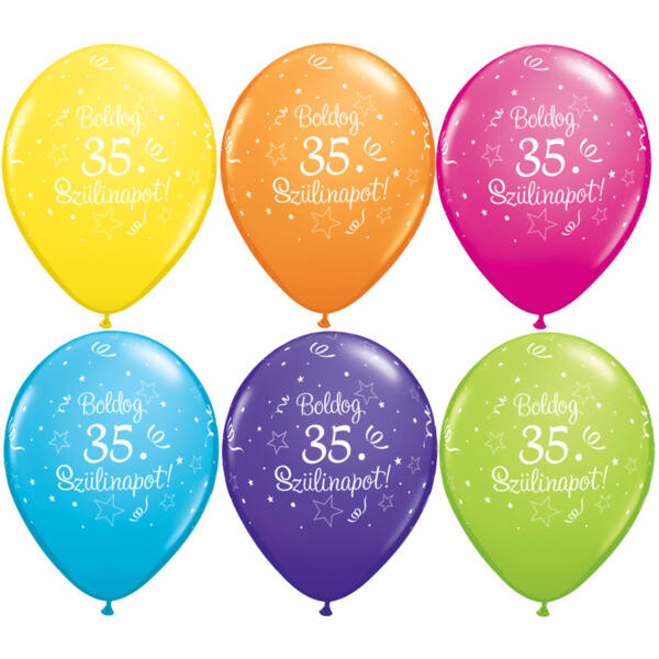 Boldog 35. szülinapot héliumos lufi