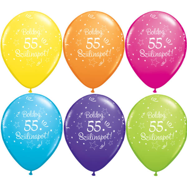 Boldog 55. szülinapot héliumos lufi