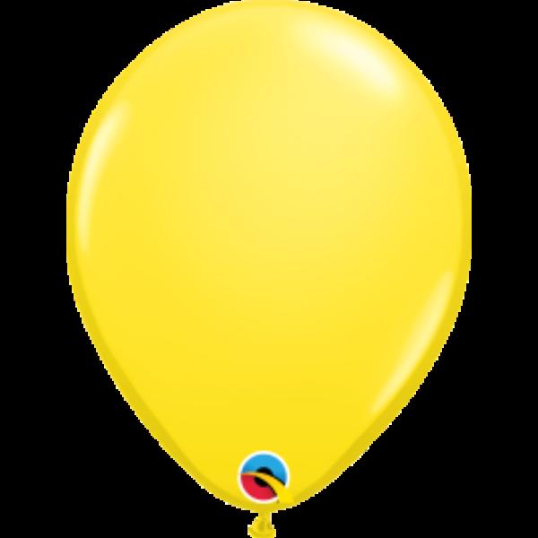 Citromsárga héliumos lufi