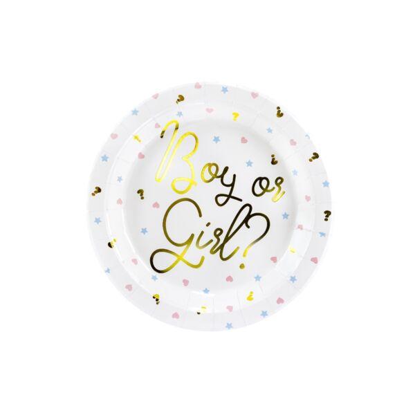 Csillagos-szives fiú vagy lány tányér 6 db